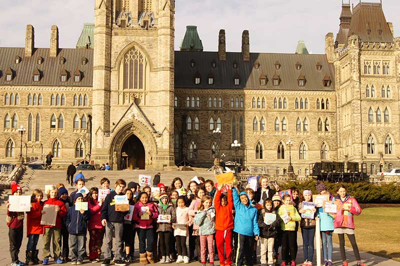 Millennium Kids on Parliament Hill